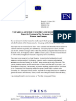 TOWARDS A GENUINE ECONOMIC AND MONETARY UNION Report by President of the European Council Herman Van Rompuy