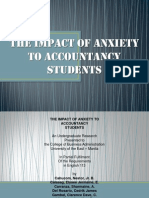 The Impact of Anxiety to Students