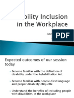 Disability Inclusion in Workplace