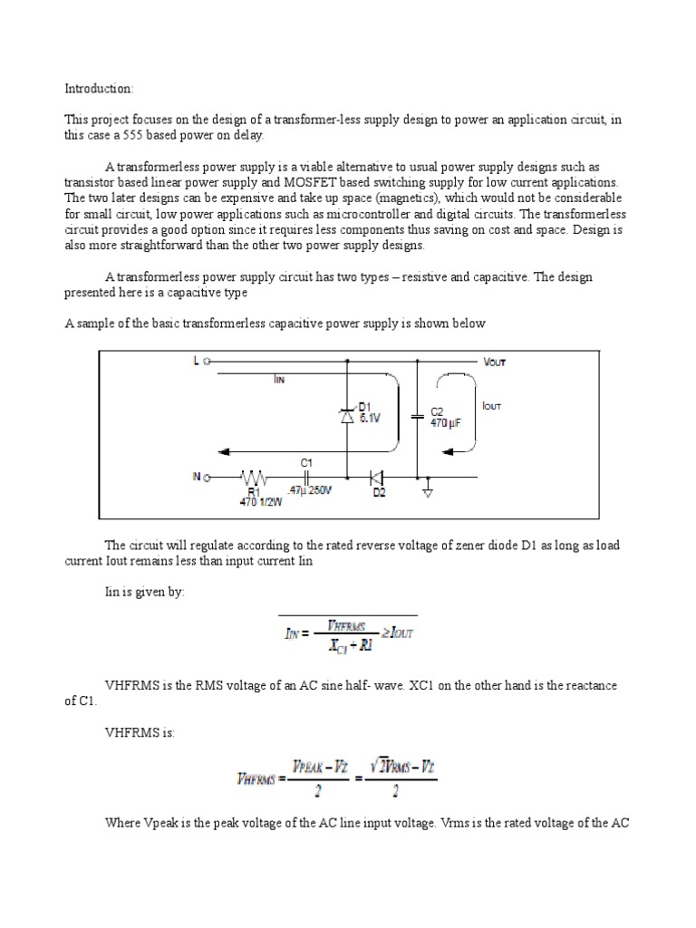 Docu Project Linear Copy Capacitor Power Supply Transformerless Design Part 2