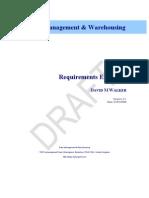 Sample - Data Warehouse Requirements