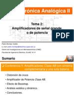 Conf 5. Amplificadores de Potencia Clase AB Con Simetria Complementaria y Una Sola Bateria2