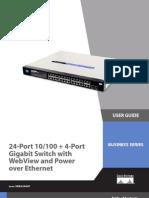 Linksys SRW224G4P Manual