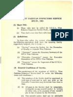 SPCA West Pakistan Inspectors Service Rules 1965