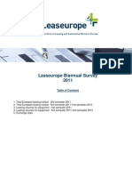Leaseurope Biannual Survey 2011