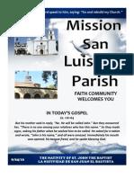 MSLRP Bulletin for 6-24-2012
