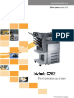 BizhubC252 Brochure