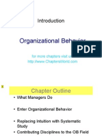 Organizational Behaviour- Chart