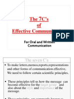 The 7C's of effective communication( modified)