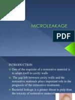 Microleakage Seminar