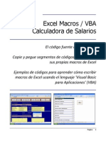 Excel Macros VBA (Calculadora de Salarios)