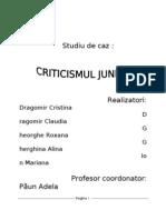 Criticismul Junimist Sstudiu de Caz