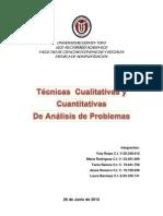 Ejemplo de Tecnicas Cualitativas y Cuantitativas