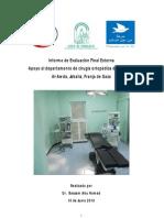 """Informe Evaluación Externa proyecto""""Apoyo Departamento Cirugía Ortopédica Hospital al Awda Gaza, Palestina"""""""
