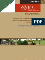 """Informe de Evaluación Externa proyecto""""Fortalecimiento de la Capacidad Productiva de 932 Familias, República Dominicana"""""""