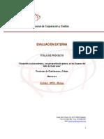 """Informe Evaluación Externa proyecto """"Desarrollo Socioeconómico con Perspectiva de Género, Marruecos"""""""