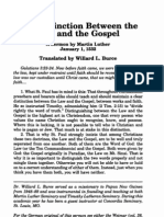 Luther 1532 Sermon on Distinction Between Law and Gospel