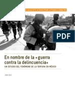 La Guerra Contra La Delincuencia Un Estudio Del Fenomeno de La Tortura en Mexico