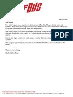 Sock & Hygiene Drive Cover Letter