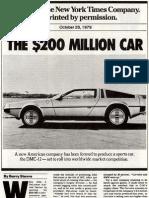 1979-2005 DeLorean Articles