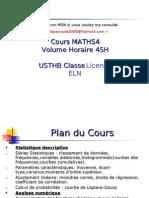 """Cours Statistiques , probabilité , analyse numérique """" usthb"""""""
