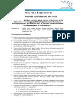 Rezoluţiile Parlamentului European al Tinerilor, sesiunea locală din Chişinău