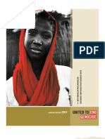 United to End Genocide Annual Report 2011