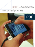 App-Musik - Musizieren mit Smartphones | MusikForum 01/2012