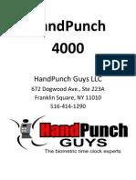 HandPunch 4000 Manual