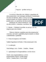 Telecomunicações IFPR - Plano de negocios
