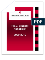 Indiana University School of Social Work PhD Student Handbook 2009-2010