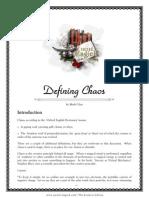 Defining Chaos