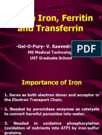 Serum Iron, Ferritin and Transferrin