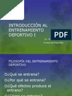 INTRODUCCIÓN AL ENTRENAMIENTO DEPORTIVO I