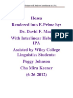 Hosea in E-Prime With Interlinear Hebrew in I.P.A. ( 6-26-2012)