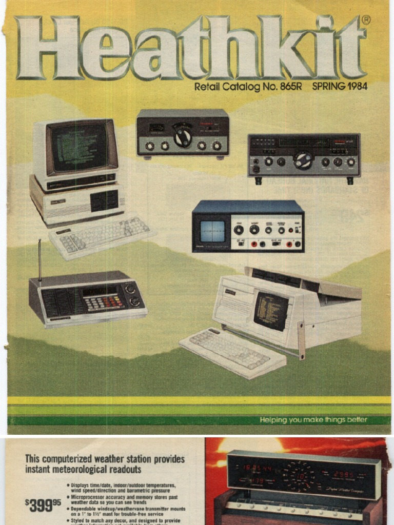 Catalog Y1984 Heathkit No865 Spring Archive Computer Dch H89 Kit Mk Logic Plus White 50a Dp Pull Cord Ceiling Switch Pilot Light Compact Cassette Equalization Audio