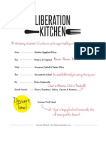 Liberation Kitchen Summer 2012 Free Meal Plan Download