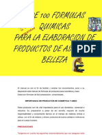 Manual de Formulas Quimicas Productos de Aseo y Cosmeticos