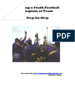 How to Startup a Youth Football Program Book