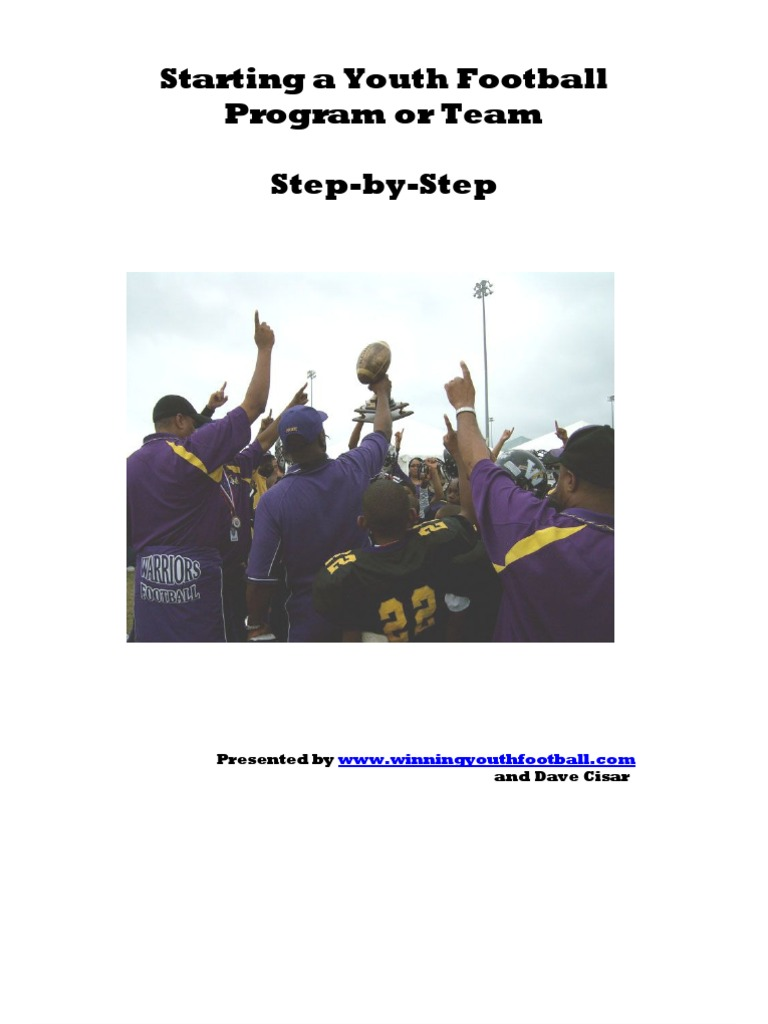 how to startup a youth football program book nonprofit rh scribd com Red Cross CPR Manual Participation Books