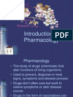 Intro to Pharmacologyt