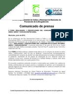 Boletin de Prensa II FORO Alcohol 27 de Junio