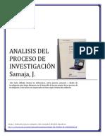 ANÁLISIS DEL PROCESO DE INVESTIGACIÓN Samaja Carlos