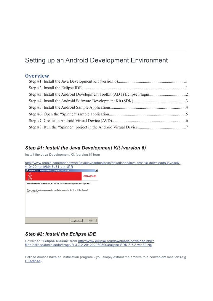 Setting Up an Android Development Environment | Eclipse