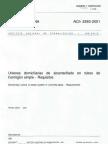 Nch 2593-2001 Uniones Domiciliarias Alcantarillado