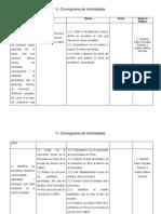 Cronograma de Actividades de La Licenciatura en Fisica