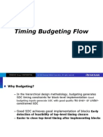 Timing Budgeting Flow