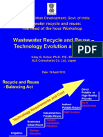 Wastewater Reuse Tech Evolution Costs