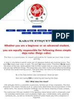 OSS - Karate Etiquette