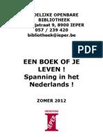 EEN BOEK OF JE LEVEN ! Spanning in het Nederlands